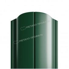 Штакетник металлический МП ELLIPSE-O 19х126 высота 1,1м (зеленый мох 6005)