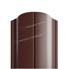 Штакетник металлический МП ELLIPSE-O 19х126 высота 1,1м (коричневый шоколад 8017)
